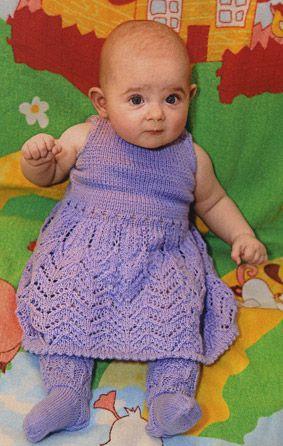 Ыдеы вязаное платье для девочки спицами